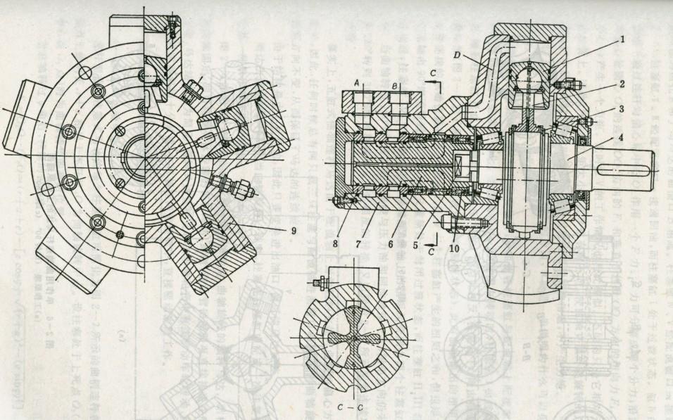 液压马达工作原理与内部结构图片