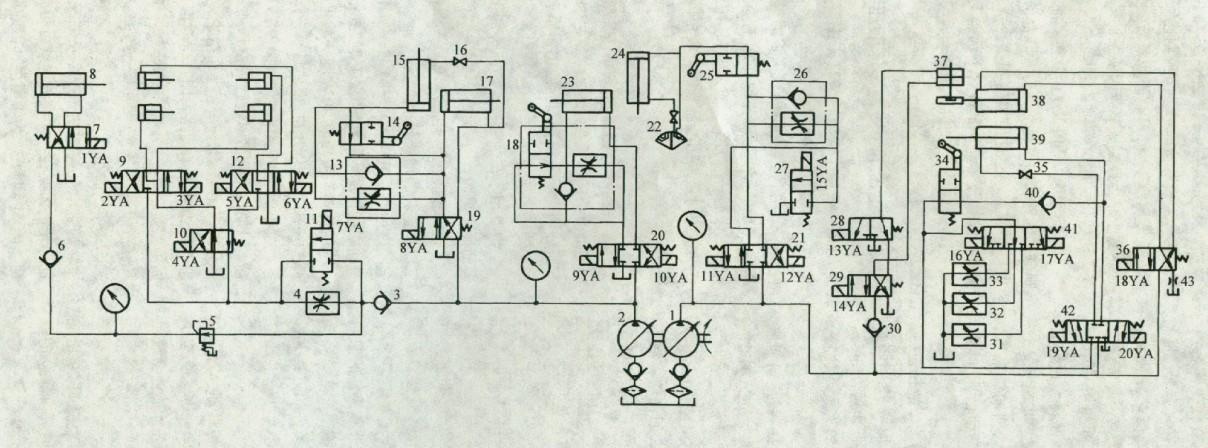 图1为cb3463转塔车床液压系统液压原理图图片