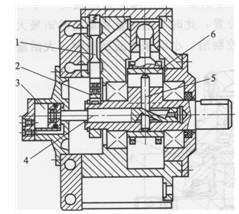 单作用径向柱塞液压马达典型结构图片